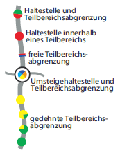 HVV Tarifzonen und Zahlgrenzen im inoffiziellen Plan