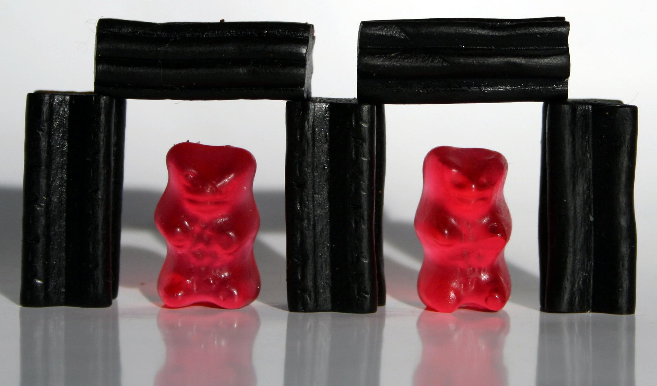 Lakritze mit Gummibären