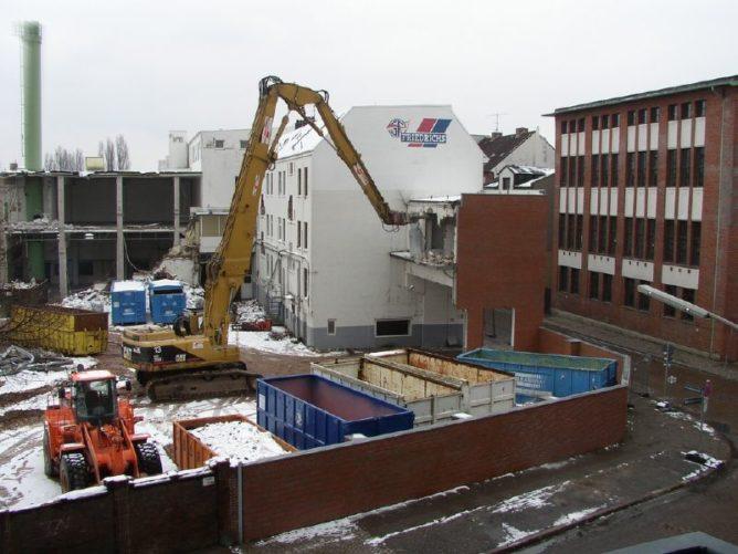 Fischfabrik Friedrichs in Ottensen Abriss
