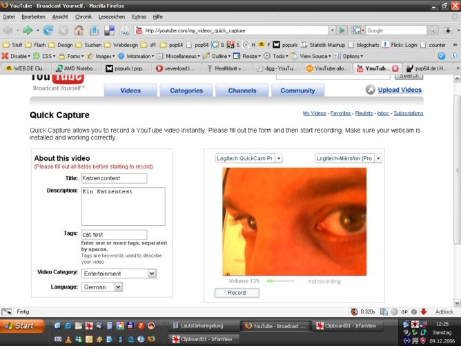 YouTube direct capture feature eingeführt