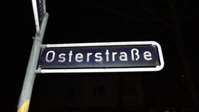 Osterstrasse Straßenschild