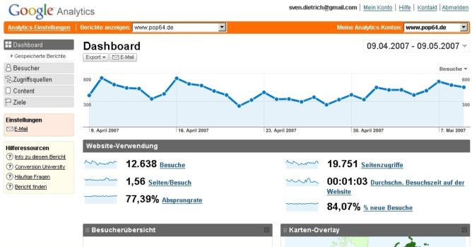 screenshot google analytics redesign
