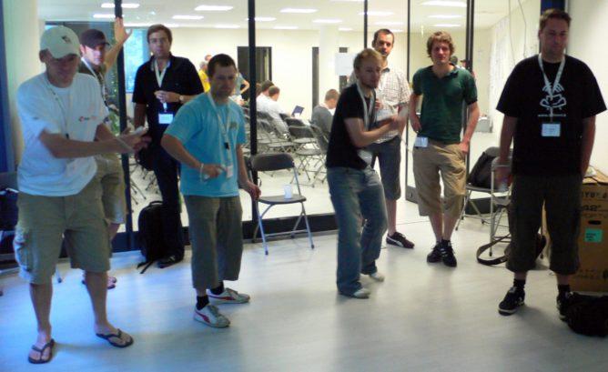 Nintendo Wii auf dem BarcampHamburg