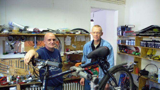 Das sind die Jungs vom Fahrraddoktor