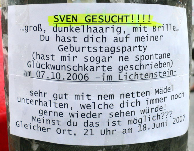 Sven gesucht