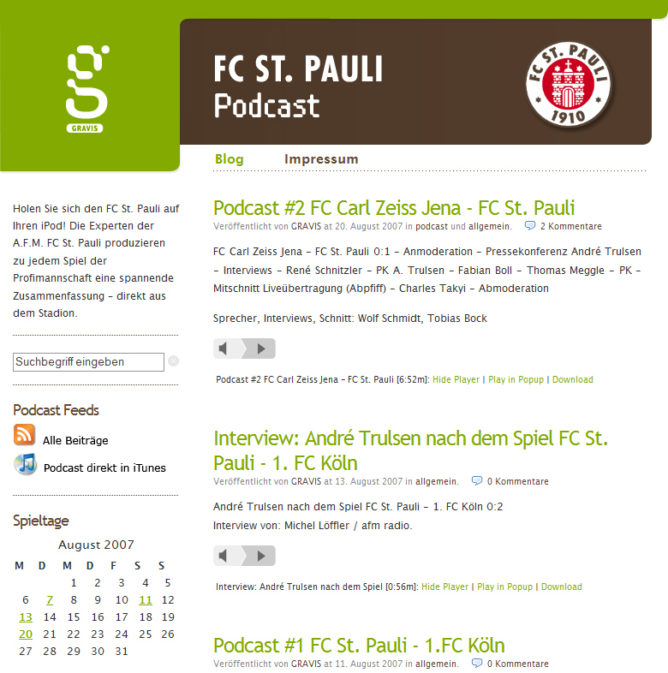 screenshot gravis fc st pauli podcast