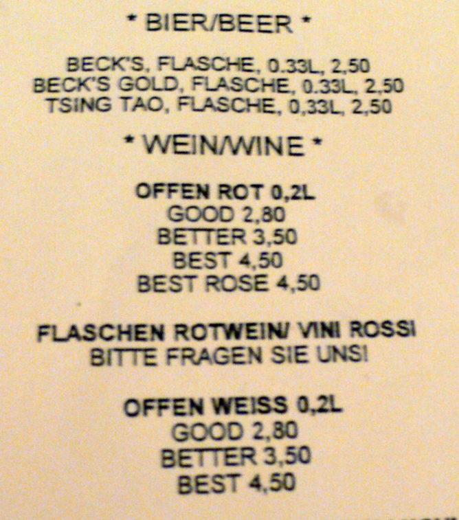 Good Better Best Winecard