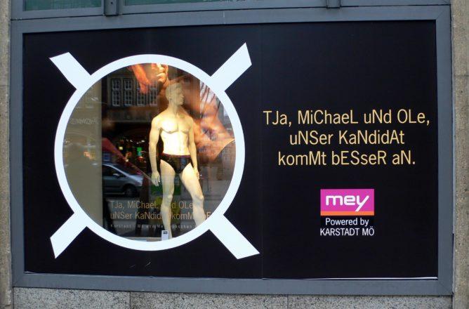 Werbung mit der Wahl in Hamburg