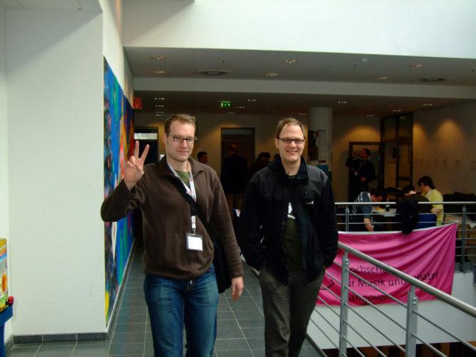 Jovelstefan und Sven auf dem Barcamp
