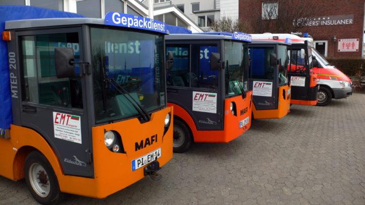 Elektroautos auf Helgoland