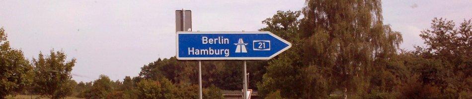 Hamburg Berlin auf der Autobahn