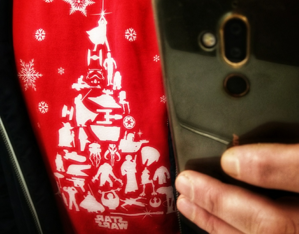 Ugly star wars Christmas sweater