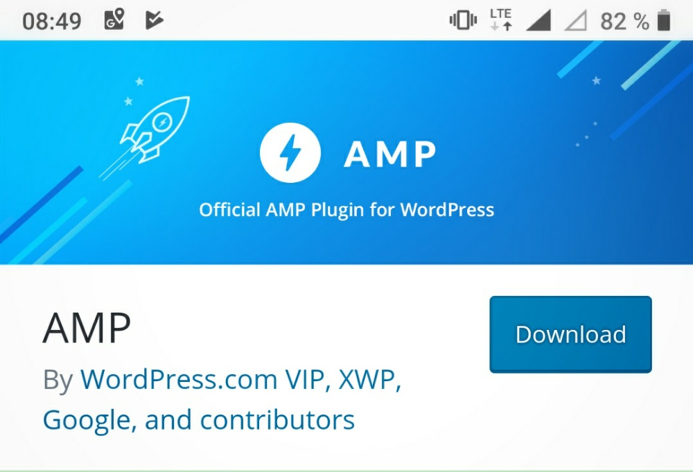 Screenshot des AMP für WordPress Plugins.