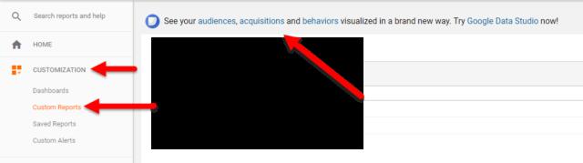Klick, Klick, Data Studio mit Report für die jeweilige View in Google Analytics.
