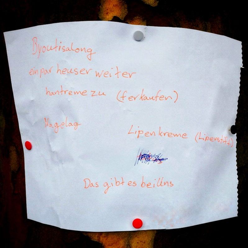 Plakat für einen Beatysalon