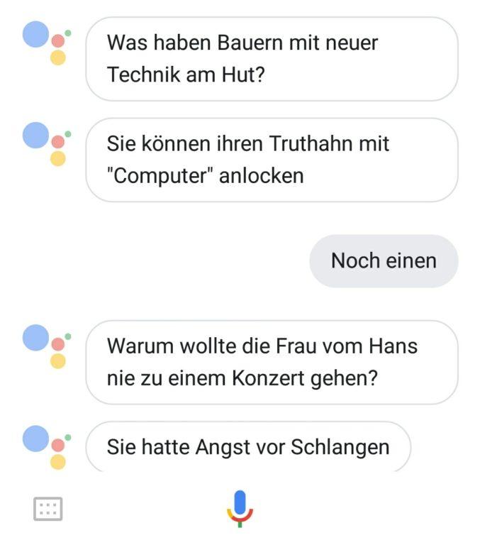 Google Witze