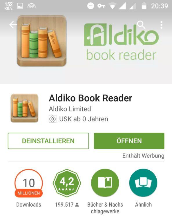 Aldiko ereader App