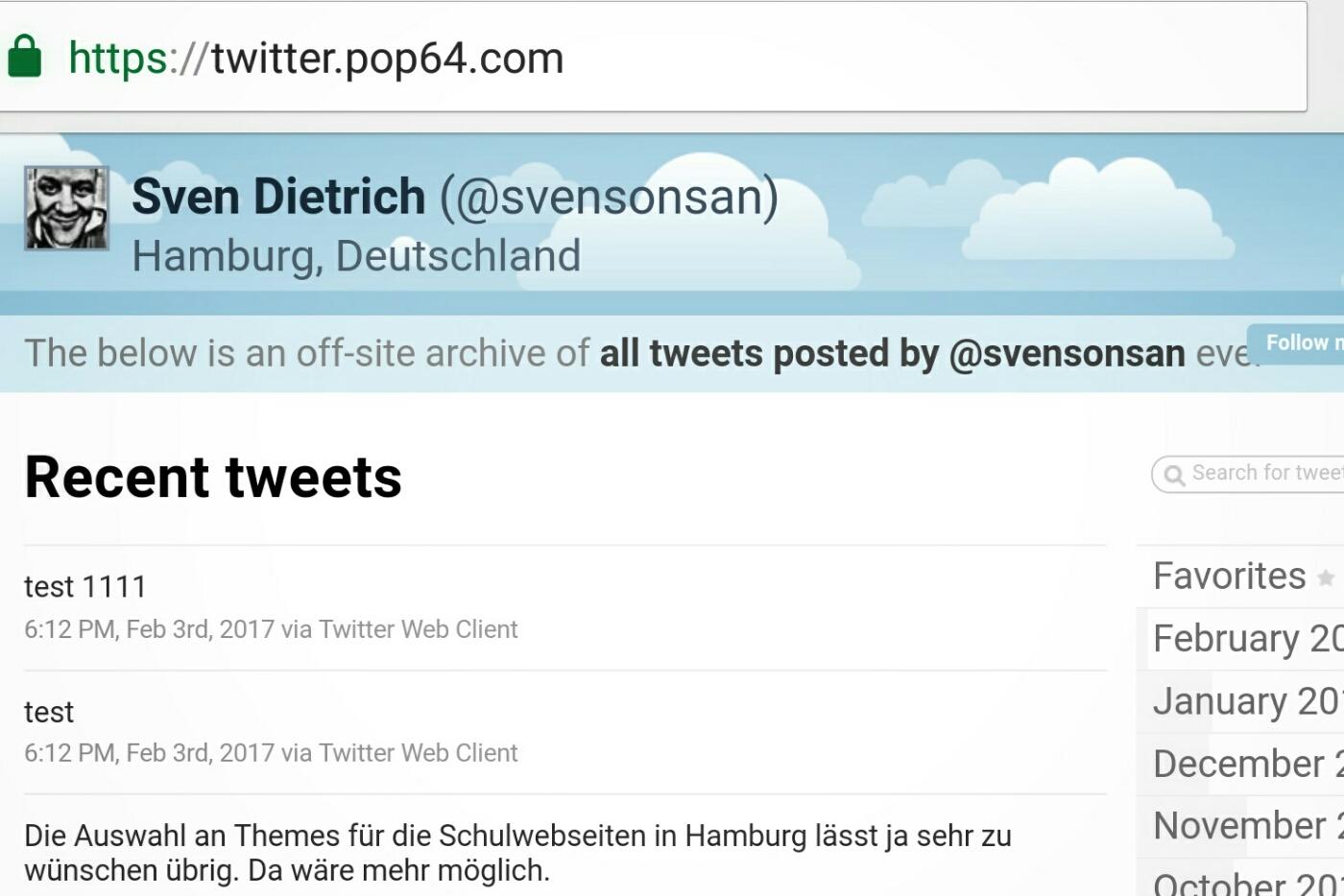 Bild TweetNest. Mein Twitter Gelöt auf dem Handy. Alle Tweets auf einmal.